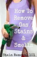 How To Remove A Gas Stain And Smells