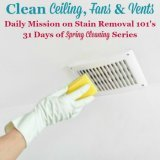 Clean ceiling, fans and vents