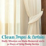 Clean drapes and curtains