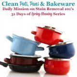 cleaning pots, pans and bakeware