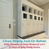 clean entryway and/or mudroom