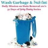 wash garbage and trash cans