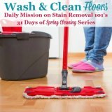wash and clean floors