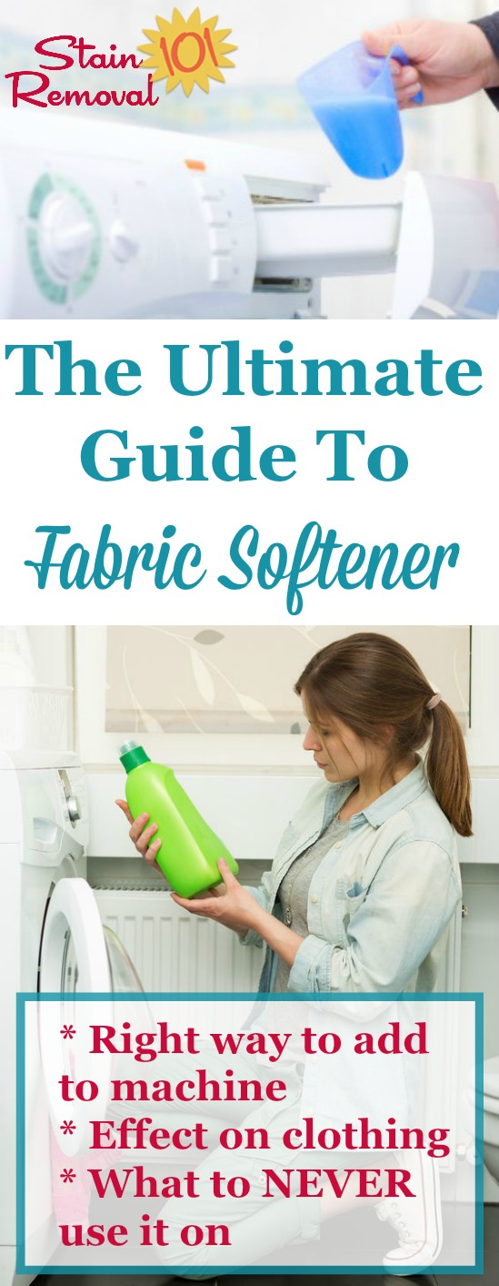 Everything you ever wanted to know about fabric softener, plus stuff you didn't even know you needed to know, including how to use it in your washing machine properly, how it effects clothes, what types of clothes you should never use it on, plus a round up of reviews of the most common brands, scents and varieties {on Stain Removal 101}