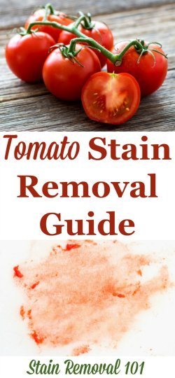 How To Remove Tomato Stains