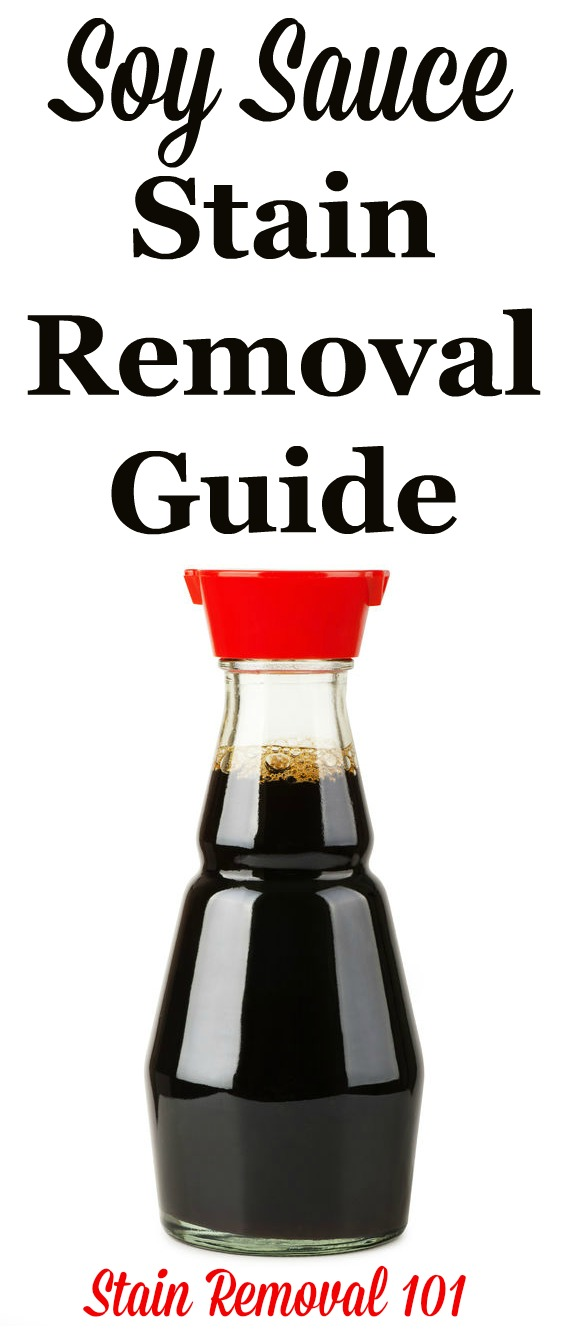 Here's how to remove soy sauce stains from clothing, upholstery and carpet {on Stain Removal 101}