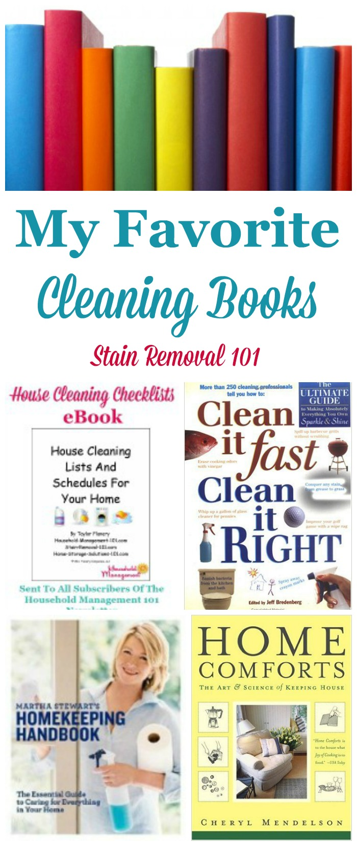 It's nice to have resources when you've got a stain or cleaning emergency. Here are my favorite stain removal and house cleaning books, to make sure you've got the best information on hand. {on Stain Removal 101}