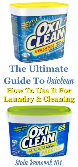 Here Is The Ultimate Guide To Oxiclean, The Product Used To Fight Stains  And Clean ...