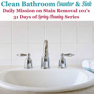 Clean Bathroom Sink & Counters