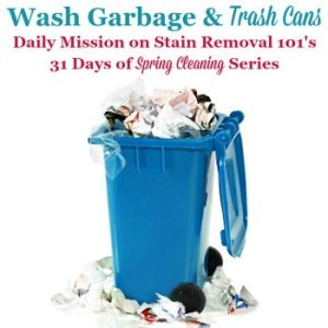 Wash Garbage Cans