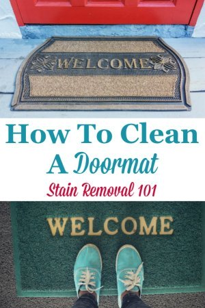 How to clean a doormat so the exterior of your home looks nice {on Stain Removal 101} #CleanDoormat #CleaningDoormat #CleaningTips