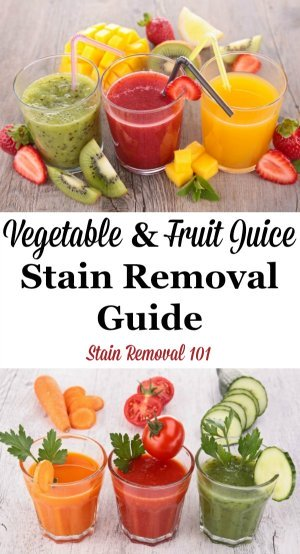 How To Remove Vegetable Amp Fruit Juice Stains