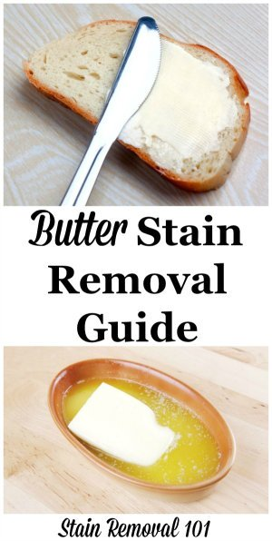 how to get set in butter stains out of clothes