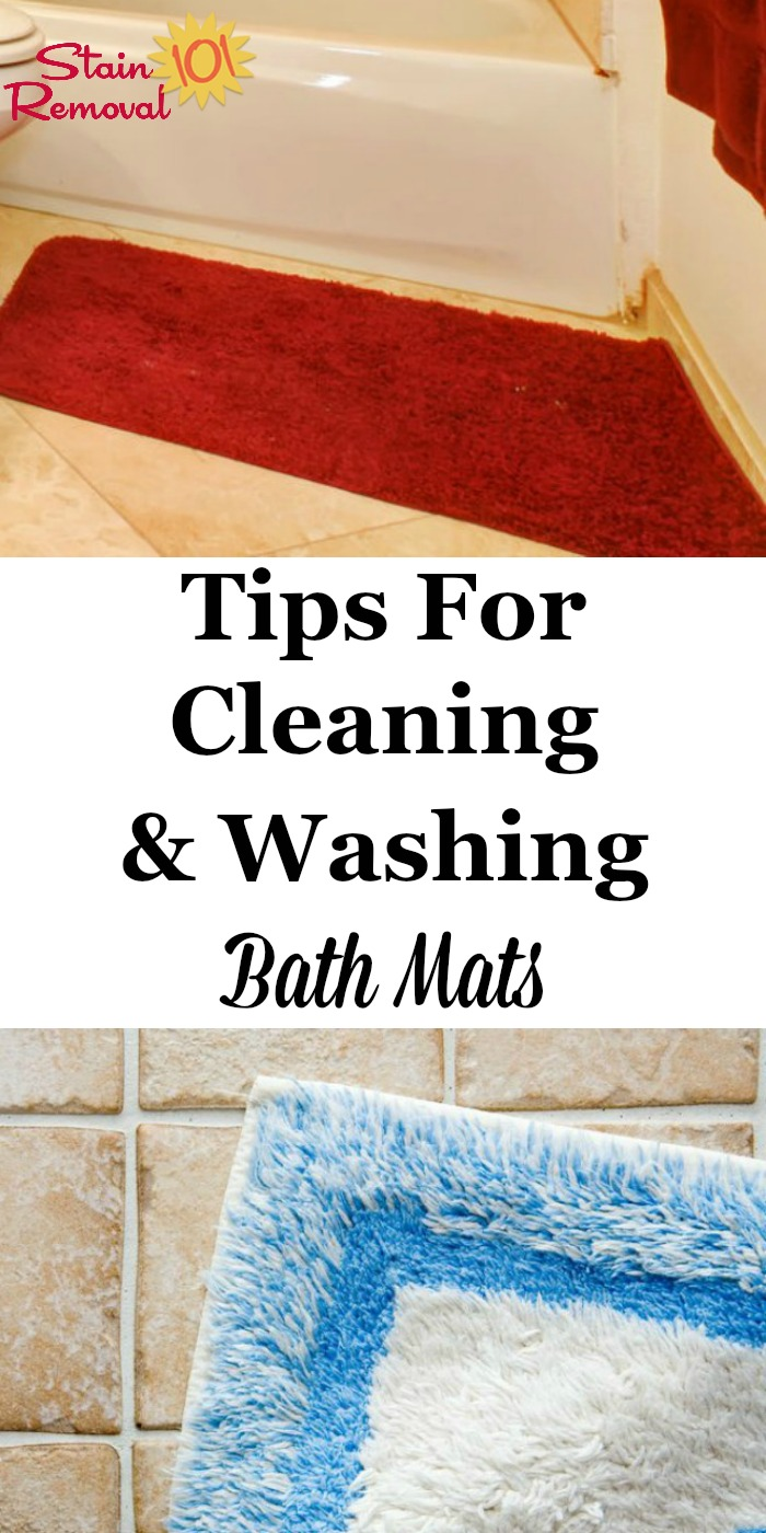 Tips For Cleaning Amp Washing Bath Mats