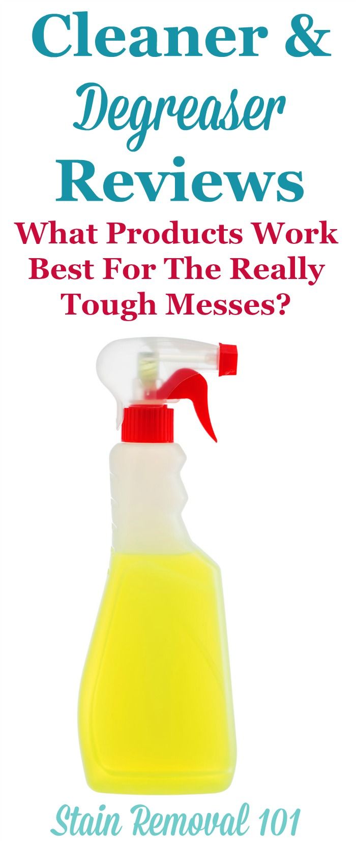Here is a round up of cleaner degreaser reviews, and how they work on the really tough and greasy dirt and grime, to find the best products to use around your home {on Stain Removal 101} #Degreaser #CleanerDegreaser #CleaningProducts
