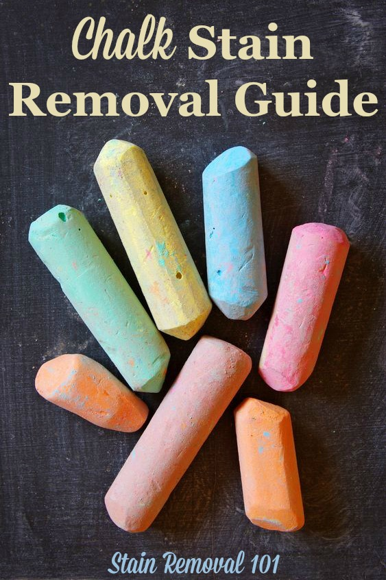 Chalk stain removal guide for clothing, upholstery and carpet {on Stain Removal 101}