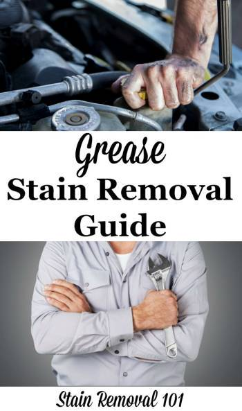 Grease stain removal guide, for mechanical and electrical grease types of stains, for clothing ...
