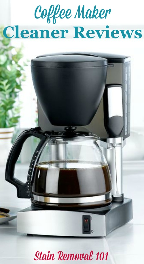 Here are coffee maker cleaners reviews to find out which products work best, and which should stay on the store shelf, when you need to clean your coffee maker {on Stain Removal 101}