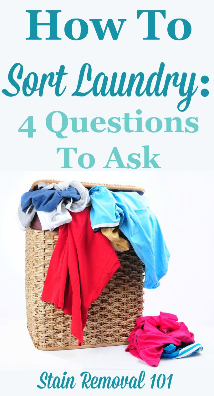 How to sort laundry: 4 questions to ask to make the process fast but still effective {on Stain Removal 101}