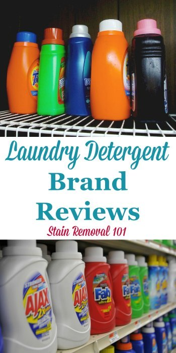 Here is a round up of laundry detergent brand reviews, including both popular and more obscure and harder to find varieties, so you can find the best detergent for your laundry {on Stain Removal 101}