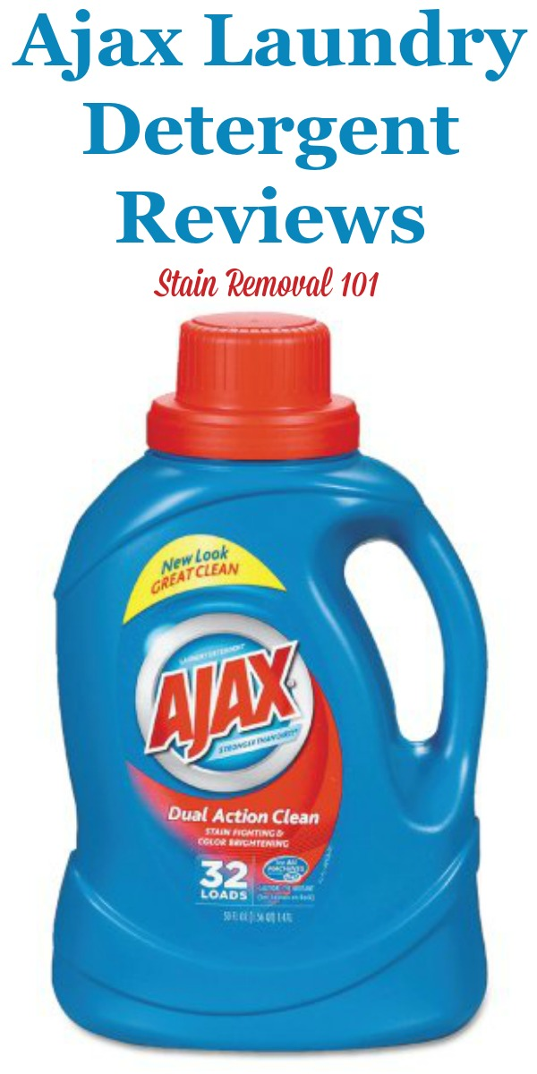 Here is comprehensive guide about Ajax laundry detergent, including reviews and ratings of this laundry supply {on Stain Removal 101}