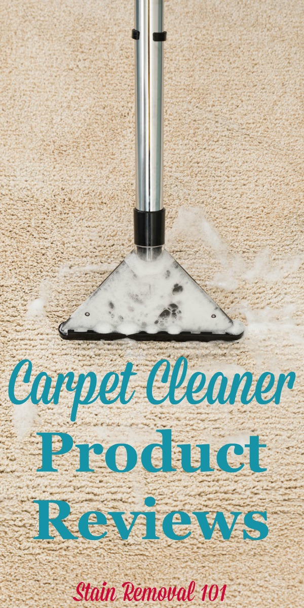 Here are carpet cleaner product reviews and ratings from readers, discussing various products designed to clean your whole carpet, not just a spot or stain on it {on Stain Removal 101}