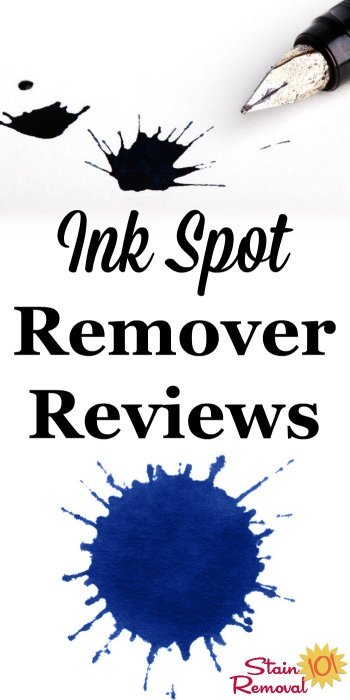 Here is a round up of ink spot remover and ink stain removers reviews to find out which ones work the best to remove them from clothes, carpet and other surfaces {on Stain Removal 101}