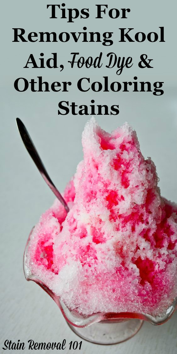 How To Remove Kool Aid Stains Amp Other Food Dyes Amp Other