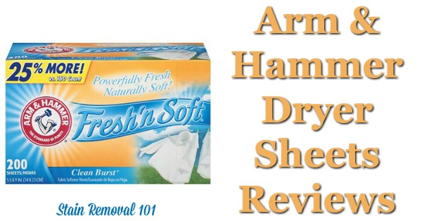 Here is a comprehensive guide about Arm and Hammer dryer sheets, including reviews and ratings of this brand of laundry supply for many different scents and varieties {on Stain Removal 101}