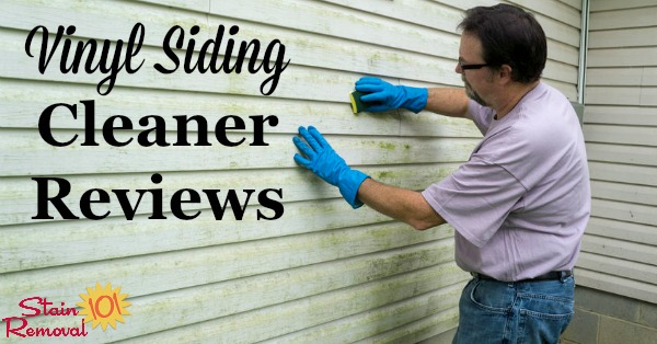 Here is a round up of reviews to find out the best cleaner for vinyl siding, including to remove general dirt as well as mildew, rust, graffiti and more {on Stain Removal 101}