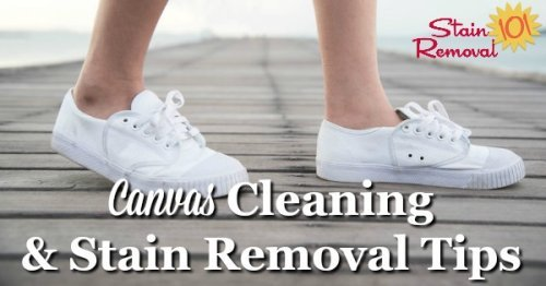 Here are canvas cleaning tips and stain removal ideas to clean items made with canvas around your home {on Stain Removal 101}