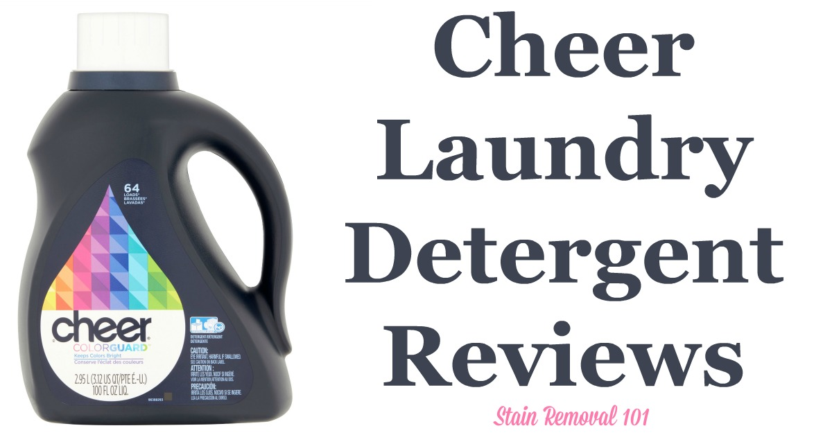 Here is a comprehensive guide about Cheer laundry detergent, including reviews and ratings of this brand of laundry supply, including many different scents and varieties {on Stain Removal 101}