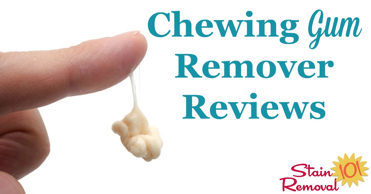 Here is a round up of chewing gum remover reviews to help you find out which gum removers actually get the job done, for clothes and fabric, hard surfaces and more {on Stain Removal 101}