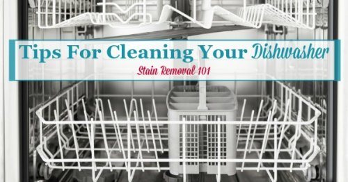 Here is a round up of tips for cleaning your dishwasher, so it doesn't get grungy or develop odors, including both DIY and home remedies and reviews of various cleaning products {on Stain Removal 101}