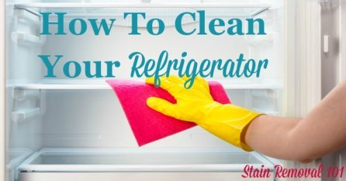 how to get odor out of refrigerator