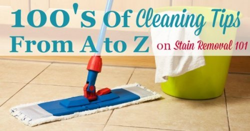 100's of house cleaning tips from A to Z {on Stain Removal 101}