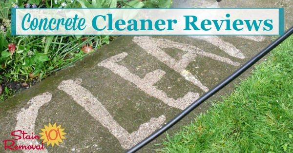 Here is a round up of reviews of concrete cleaners and concrete stain removers to find the products which work best or that shouldn't be used for problems such as rust, oil, or other grime on your concrete {on Stain Removal 101}