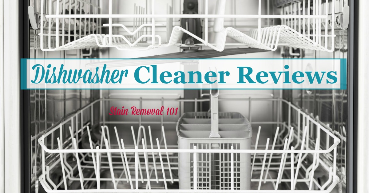 Here are dishwasher cleaners reviews of various brands so you can find out what products work best to remove limescale and hard water, clean mold and mildew, and remove odors and disinfect your dishwasher {on Stain Removal 101}