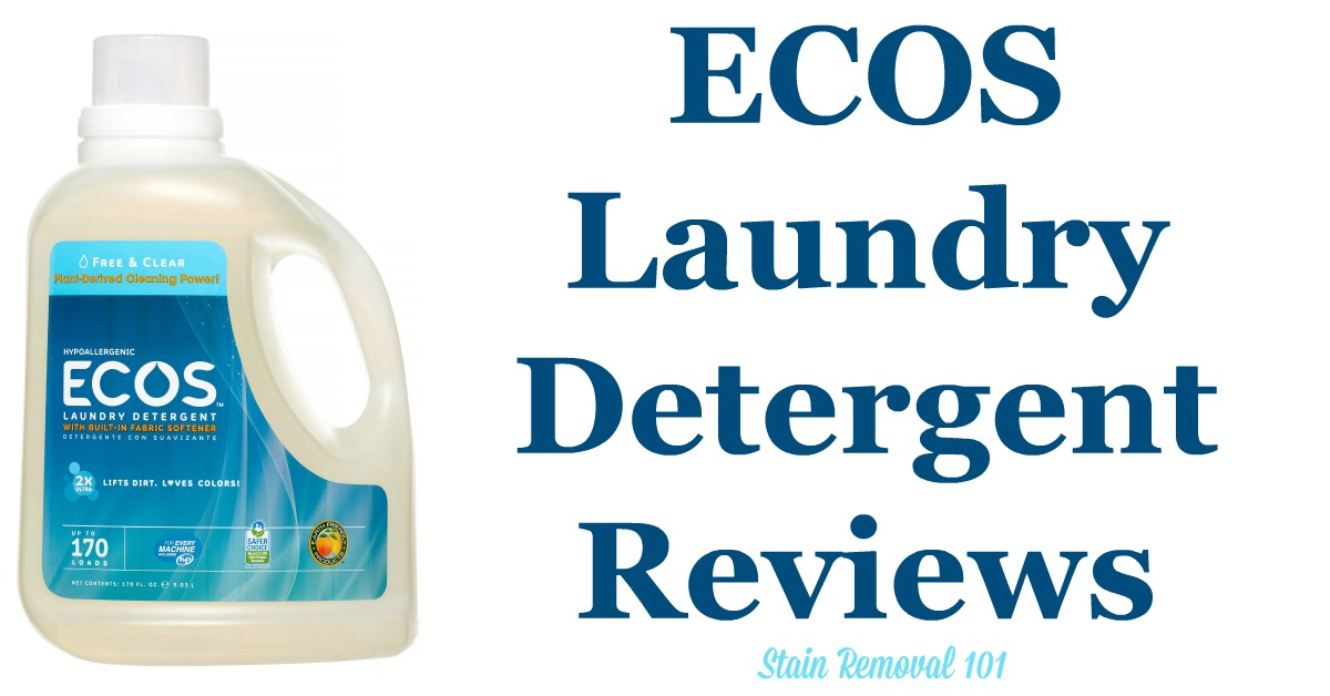 Here is a comprehensive guide about ECOS laundry detergent, including reviews and ratings of this eco-friendly brand of laundry supply, including different scents and varieties {on Stain Removal 101}