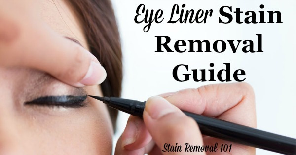 Step by step eye liner stain removal guide for clothing, upholstery and carpet {on ...