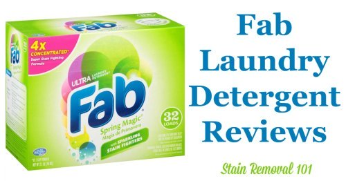 Here is a comprehensive guide about Fab laundry detergent, including reviews and ratings of this brand of laundry supply, including different scents and varieties {on Stain Removal 101}