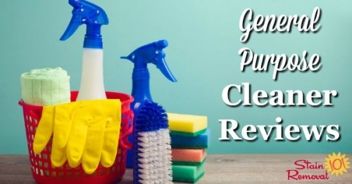 Round up of over 35 general purpose cleaner reviews to find out which products work best for general and all purpose cleaning, and which should stay on the store shelf {on Stain Removal 101}