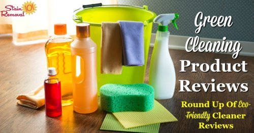 Here is a round up of over 65 green cleaning products reviews for all around your home, from bathroom, kitchen, floors, disinfectants and more, so you can find the best ones for you and your family {on Stain Removal 101}