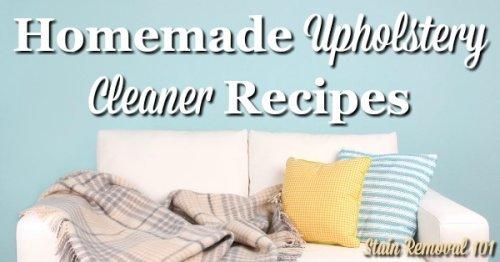 Homemade upholstery cleaner recipes solutioingenieria Gallery
