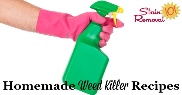 Here is a round up of homemade weed killers for use around your home and garden {on Stain Removal 101}