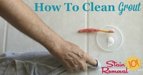 Here is a round up of tips for how to clean grout, both on a routine basis and also when the grout has become stained, including both DIY remedies and cleaning product recommendations {on Stain Removal 101}