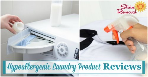 Those of us with laundry allergies need to use hypoallergenic fabric softener, dryer sheets and other laundry supplies, as well as detergent. Here are reviews of many brands to find out which will work best for you {on Stain Removal 101}