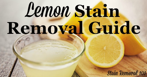 how to get lemon juice stains out of clothes