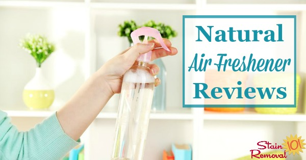 Here is a round up of natural air freshener reviews to help you find eco-friendly products for the job. Find out which ones work best, or share your own opinions {on Stain Removal 101}
