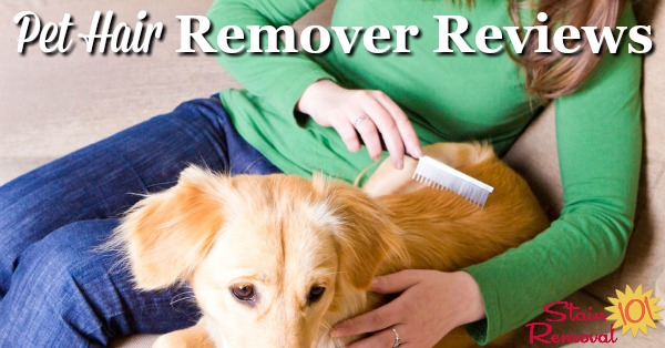 Here is a round up of pet hair removers reviews to find out which products work best for removing pet hair from a variety of surfaces, and which should stay on the store shelf {on Stain Removal 101}
